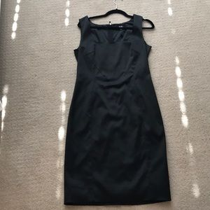 Dolce & Gabbana silk crepe black evening dress L